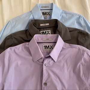 Set of 3 Express Dress Shirts. Size M. Fitted.